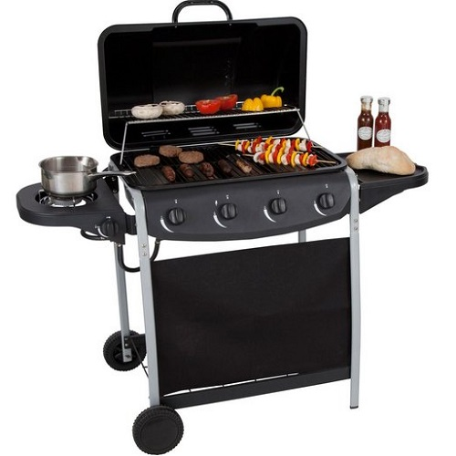 Argos 4 Burner Propane Gas BBQ with Side Burner