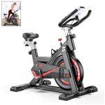 AJUMKER Indoor Exercise Bike Spinning Bike Adjustable Handlebars&Seat Gym Home Workout All-inclusive Fitness Bicycle