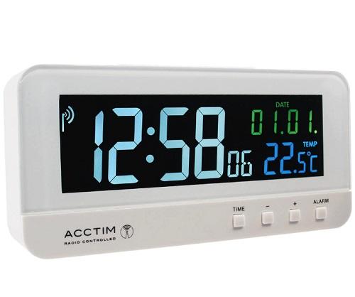 Acctim Rialto Radio Controlled LCD Alarm Clock
