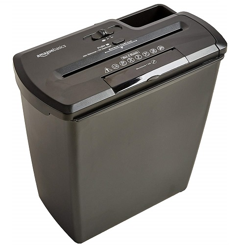 AmazonBasics 8 Sheet Strip-Cut Shredder with CD Shred