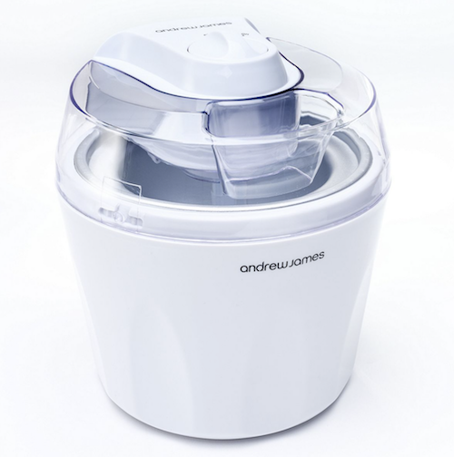 Andrew James Automatic Ice Cream Maker, White