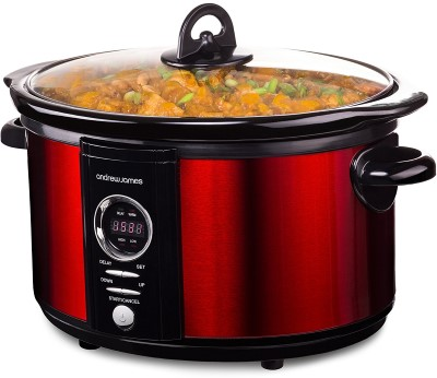 Andrew James 5 Litre Premium Digital Red Slow Cooker Review