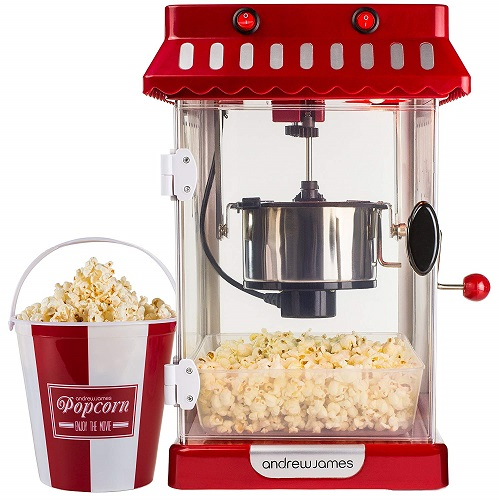 Andrew James Retro Cinema Style Kettle Popcorn Maker