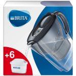 BRITA Marella fridge water filter jug for reduction of chlorine, limescale and impurities