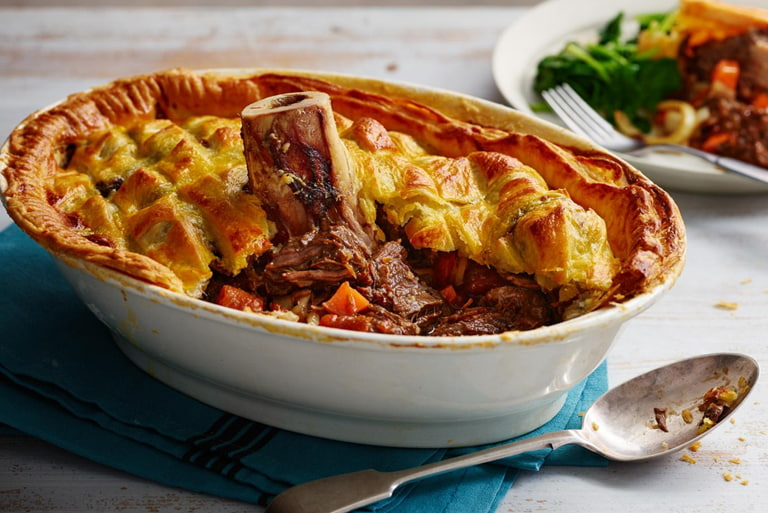 Beef Shin and Oyster Pie