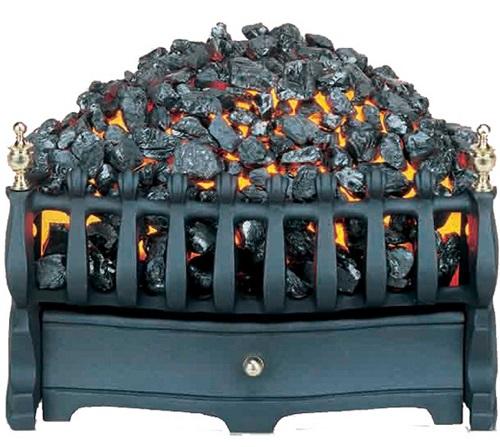 Burley Halstead 293 Coal Bed Basket Fire