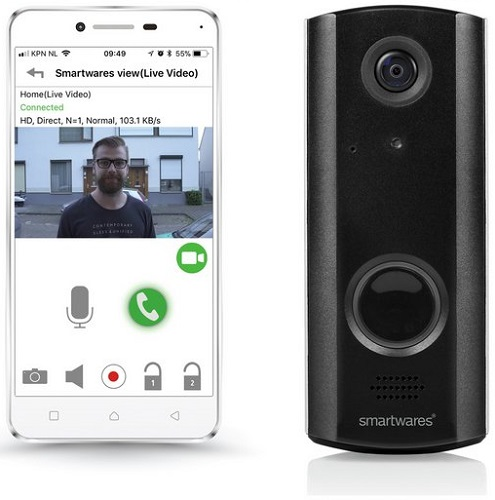 Byron WiFi Wireless Rechargeable Video Doorbell