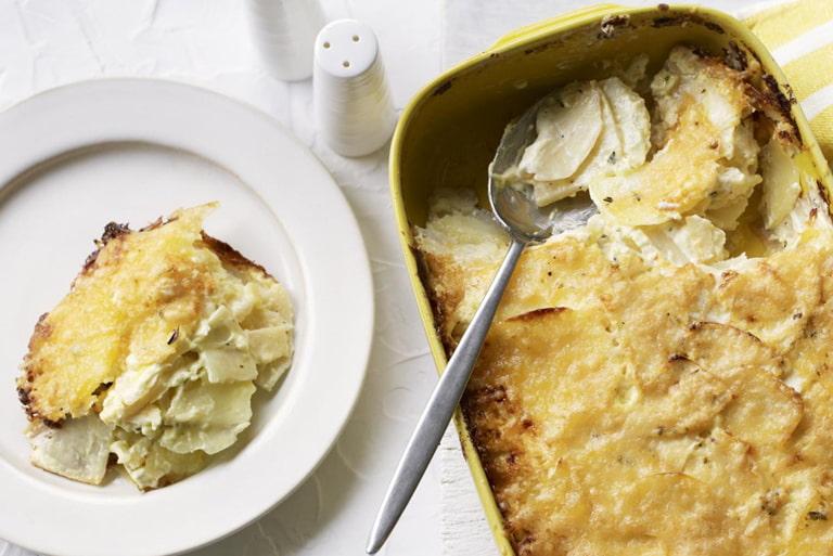 Celeriac and Potato Dauphinoise