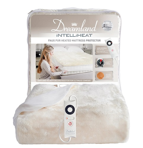 Dreamland Intelliheat Faux Fur Heated Mattress Protector