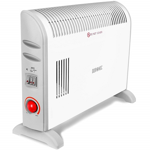 Duronic HV120 Convector Heater with Thermostat and Turbo Fan