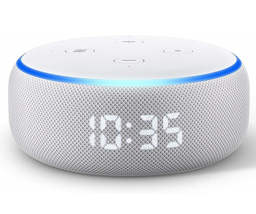 Echo Dot (3rd Generation) With Clock