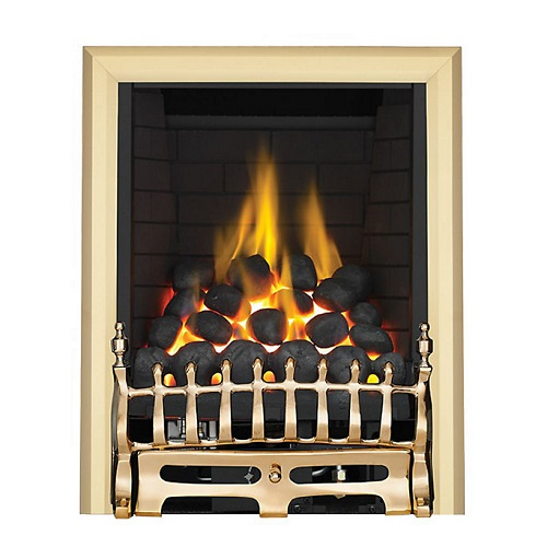 Focal Point Blenheim Full Depth Brass Manual Control Inset Gas Fire