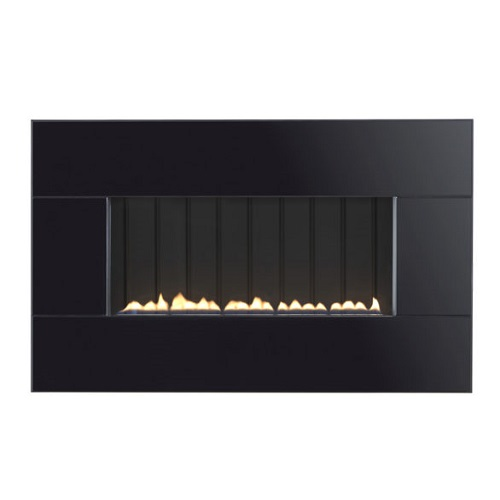 Focal Point Piano Black Manual Control Gas Fire