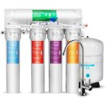 Geekpure 5-Stage Reverse Osmosis Drinking Water Filter System with Advanced Quick Change Twist Filters-75GPD