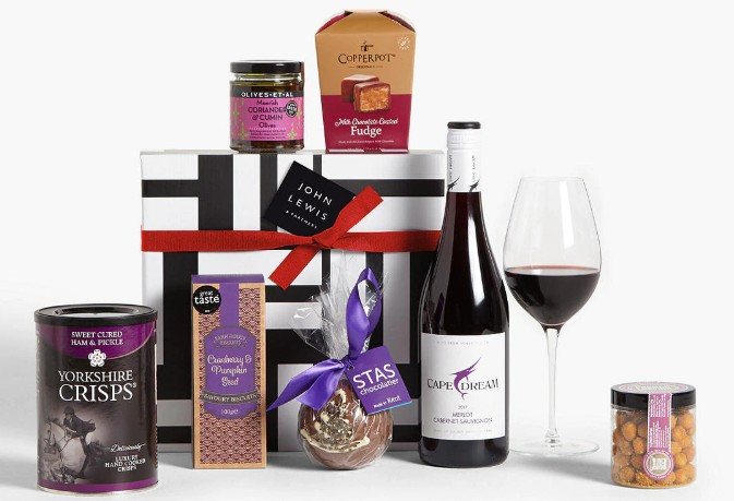 John Lewis & Partners Red Wine and Nibbles Hamper