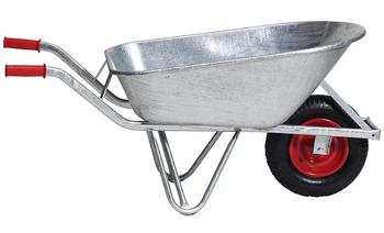 Kaiser + Kraft Hot Dip Galvanized Wheelbarrow