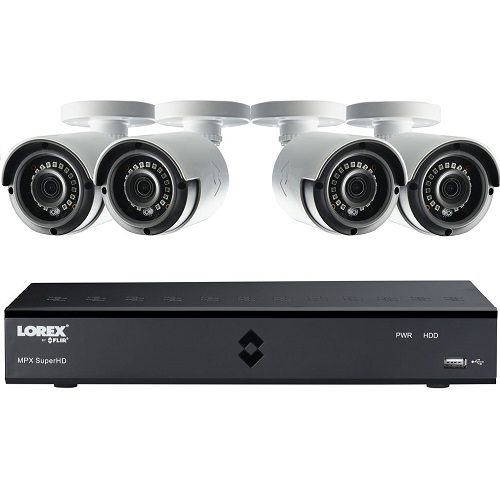 LOREX LHA41082TC4P 8-Channel Full HD 1080p Home Security System