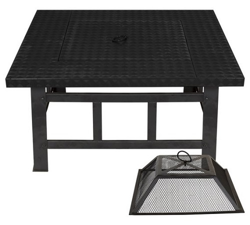 La Hacienda Large Square Fire Pit Table