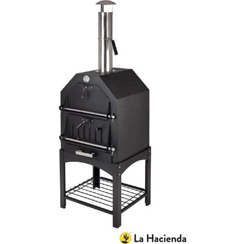 La Hacienda Multi-Function Outdoor Steel Pizza Garden Oven