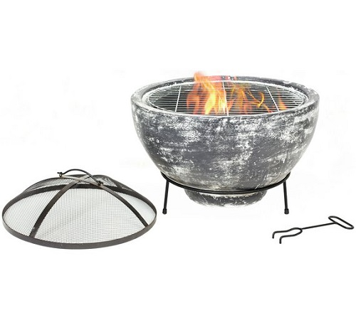La Hacienda Slate Effect Large Fire Pit