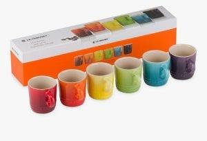 Le Creuset Rainbow Stoneware Espresso Mugs