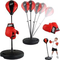 Liberty Imports Sports Boxing Set Speed Bag with Gloves