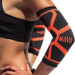 Mava Sports Knitted Elbow Sleeves Recovery Compression (Pair) - Support for Workouts, Weightlifting, Arthritis, Tendonitis, Tennis and Golfer's Elbow - Athletic Elbow Compression Sleeve