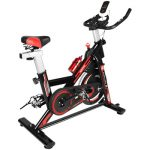Naspaluro Exercise Bikes, Stationary Infinite Resistance Spin Bike with Phone HolderHeart MoniterLCD Monitor