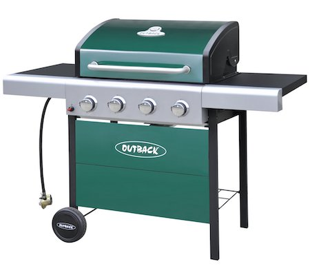 Outback 4 Burner Gas BBQ with Cover