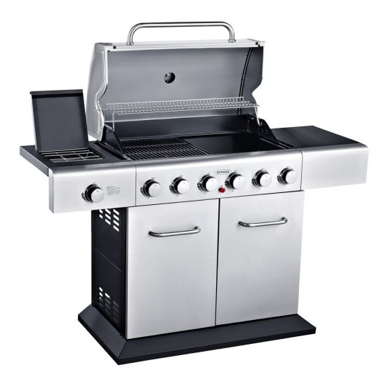 Outback Meteor Hooded Stainless Steel 4 Burner Gas BBQ