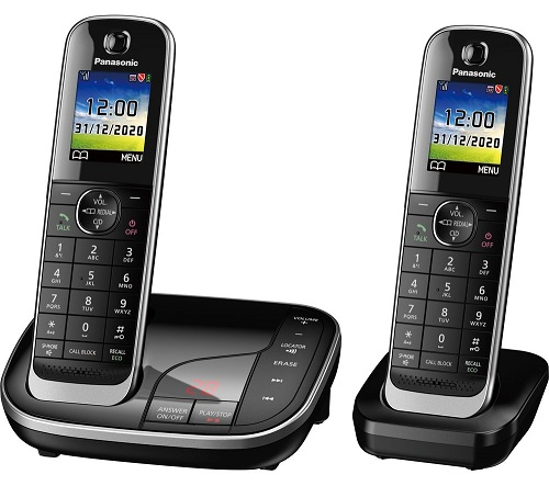 PANASONIC KX-TGJ422EB Cordless Phone, Twin Handsets