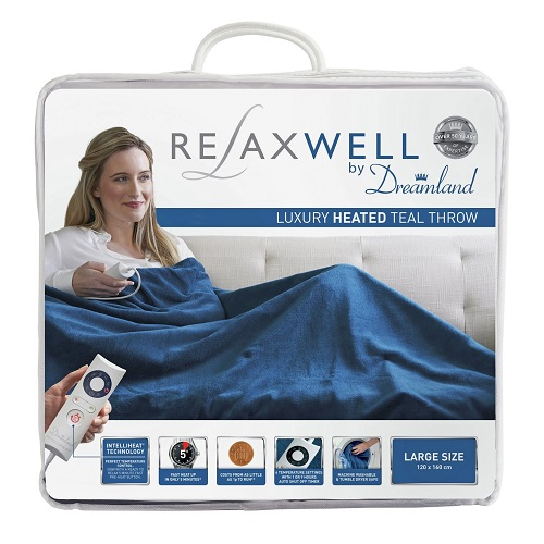 Relaxwell by Dreamland Heated Throw