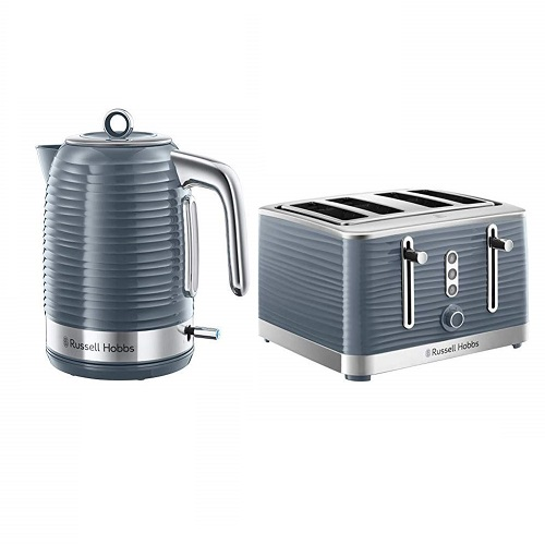 Russell Hobbs Inspire Electric Kettle and 4 Slice Toaster