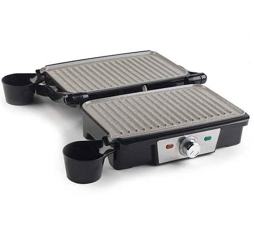 Salter Marble Collection 2 in 1 Fold-Out Health Grill and Panini Maker