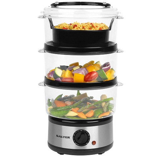 Salter EK2726 Healthy Cooking 3-Tier Food Steamer
