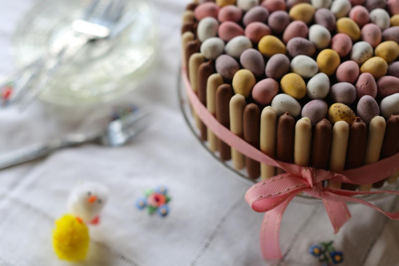 Simple Easter Mini Egg Nest Cake