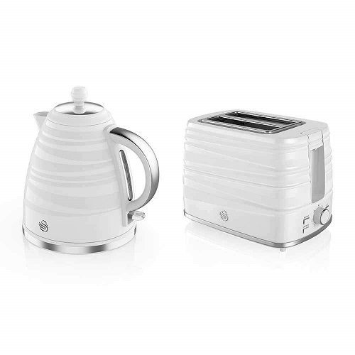 Swan STP3050WN Symphony Kettle and 2 Slice Toaster Bundle