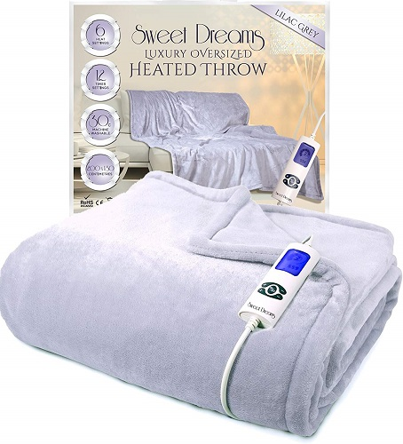Sweet Dreams Electric Heated Throw