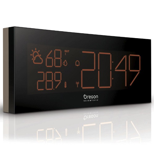 Oregon Scientific Prysma Chrome Weatherstation Alarm Clock