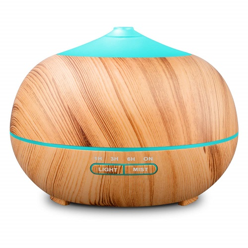 Tenswall 400ml Wood Grain Essential Oil Diffuser