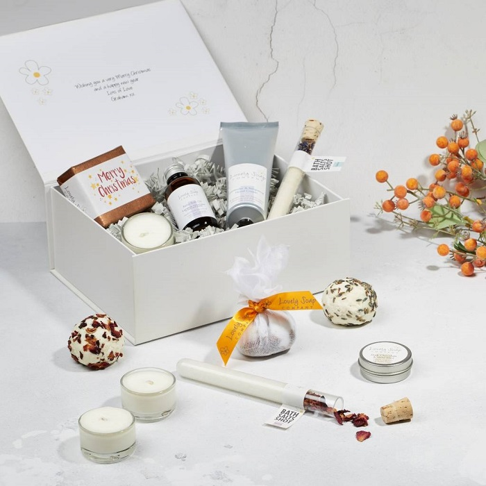 Twelve Days Of Christmas Pampering Gift Set by LOVELY SOAP COMPANY
