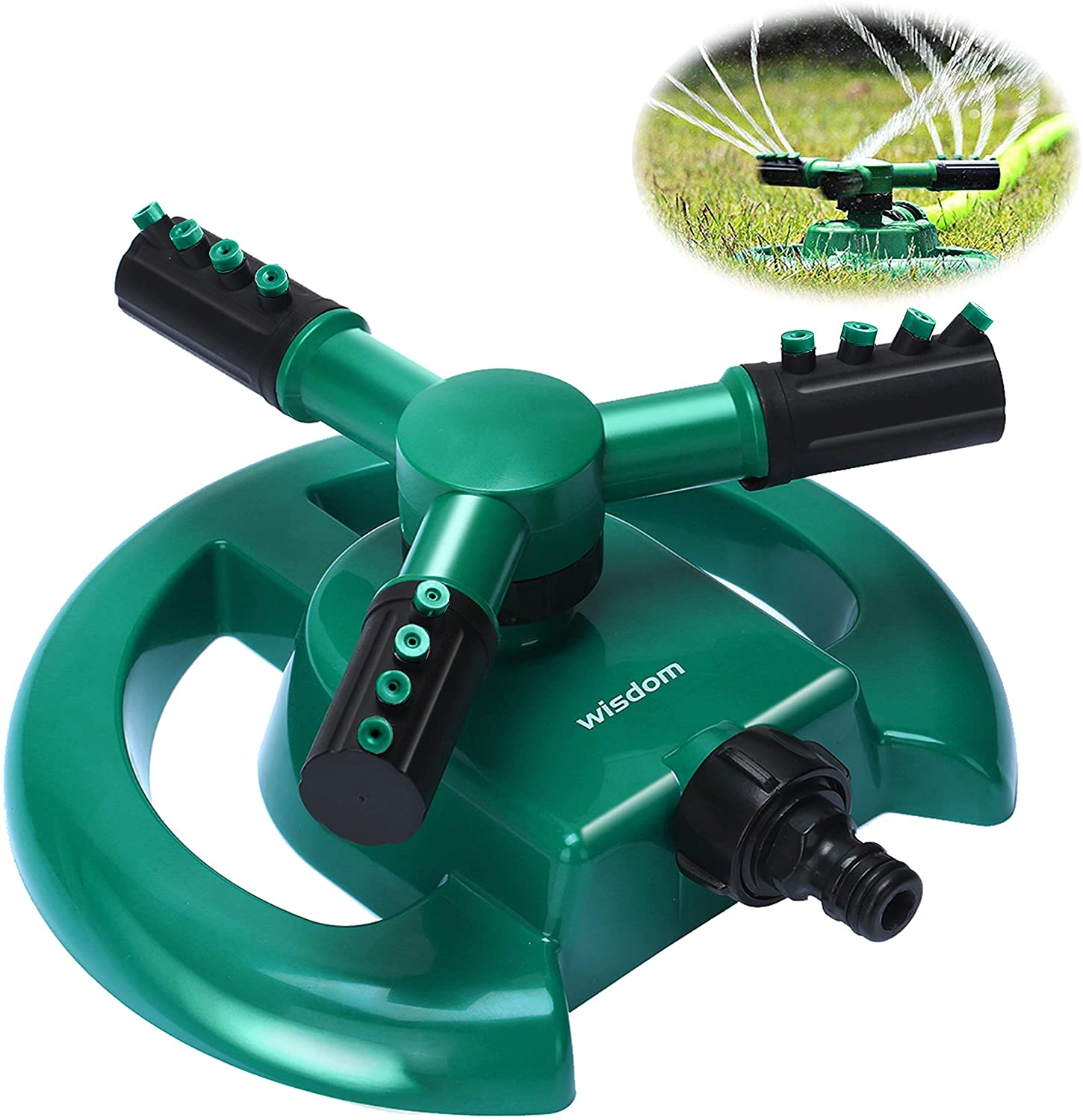 Wisdom Automatic 3-Arm Water Sprinkler