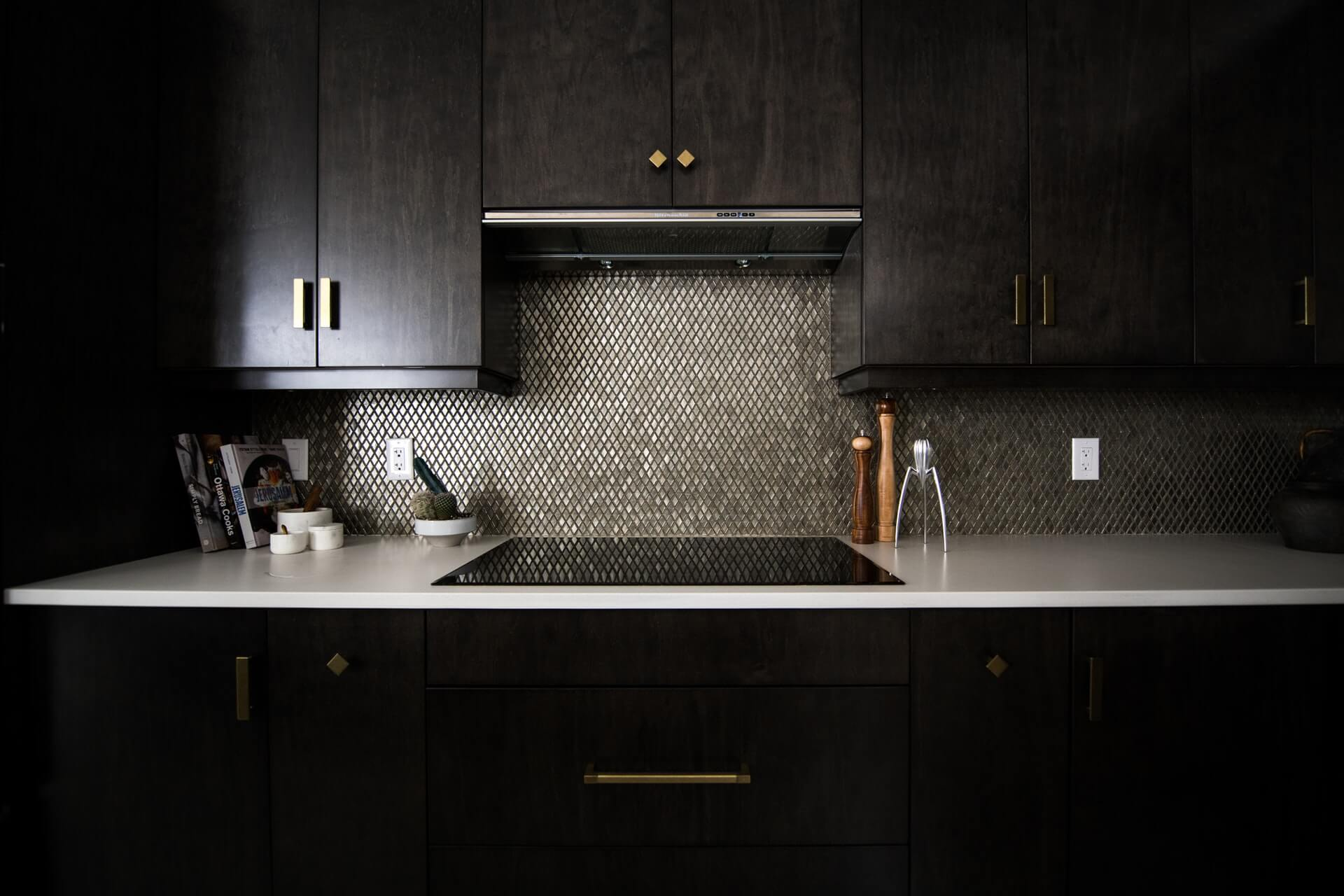 Kitchen with an induction hob