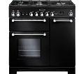 RANGEMASTER Kitchener 90 Dual Fuel Range Cooker - Black